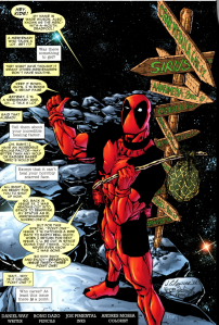 From one of the issues of Marvel's Deadpool